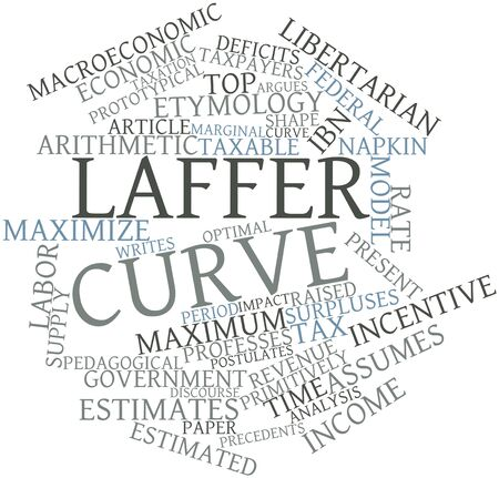 macroeconomic: Abstract word cloud for Laffer curve with related tags and terms