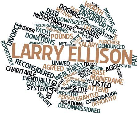 関連するタグと用語 Larry Ellison の抽象的な単語雲