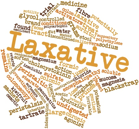 Abstract word cloud for Laxative with related tags and terms Stock Photo - 16720803