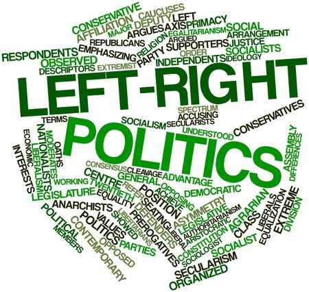 Abstract word cloud for Left-right politics with related tags and terms photo