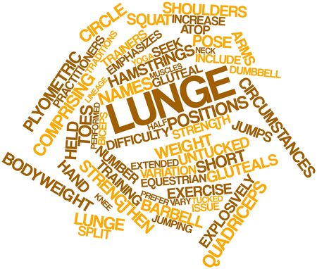 circumstances: Abstract word cloud for Lunge with related tags and terms