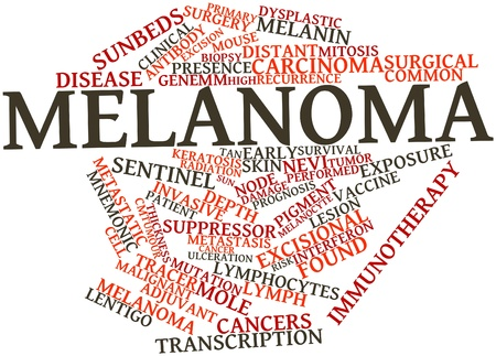 melanoma: Abstract word cloud for Melanoma with related tags and terms