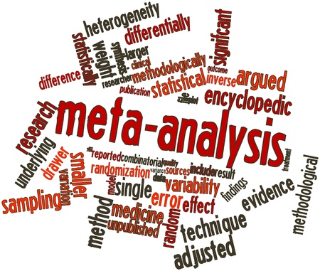 Abstract word cloud for Meta-analysis with related tags and terms Stock Photo - 16720113