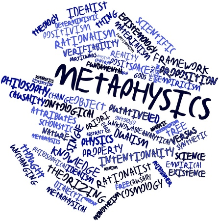 ontology: Abstract word cloud for Metaphysics with related tags and terms