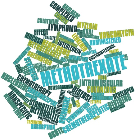 toxicity: Abstract word cloud for Methotrexate with related tags and terms