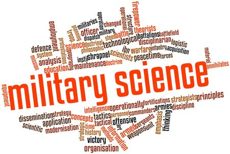 militarily: Abstract word cloud for Military science with related tags and terms