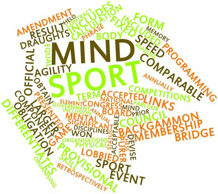 parlour games: Abstract word cloud for Mind sport with related tags and terms