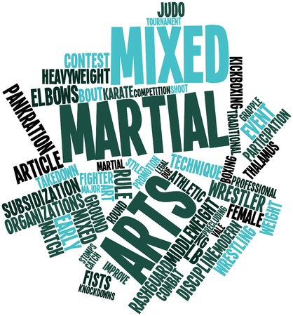 mixed martial arts: Abstract word cloud for Mixed martial arts with related tags and terms