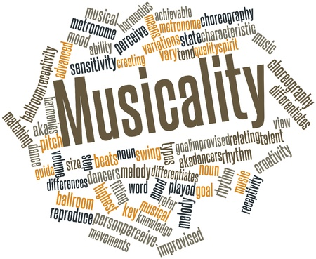 Abstract word cloud for Musicality with related tags and terms Stock Photo - 16720259