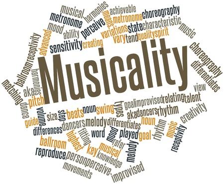 musicality: Word cloud astratto per Musicalit� con tag correlati e termini Archivio Fotografico