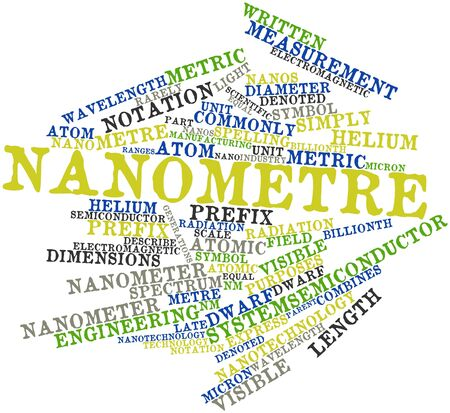 prefix: Abstract word cloud for Nanometre with related tags and terms
