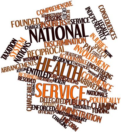 Abstract word cloud for National Health Service with related tags and terms Stock Photo - 16720925