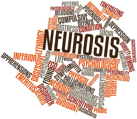 Abstract word cloud for Neurosis with related tags and terms Stock Photo