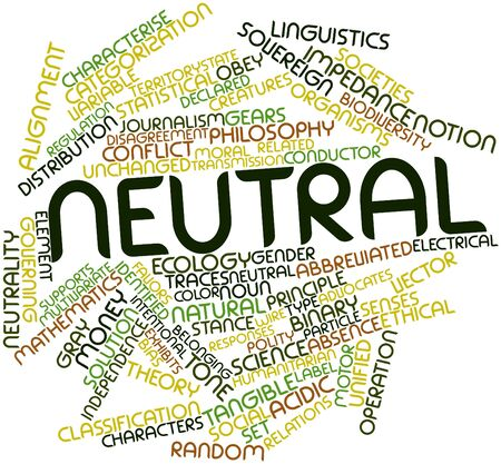 tangible: Abstract word cloud for Neutral with related tags and terms Stock Photo