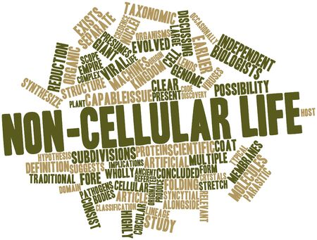 implications: Abstract word cloud for Non-cellular life with related tags and terms