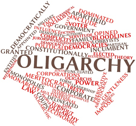 Abstract word cloud for Oligarchy with related tags and terms Stock Photo - 16720554