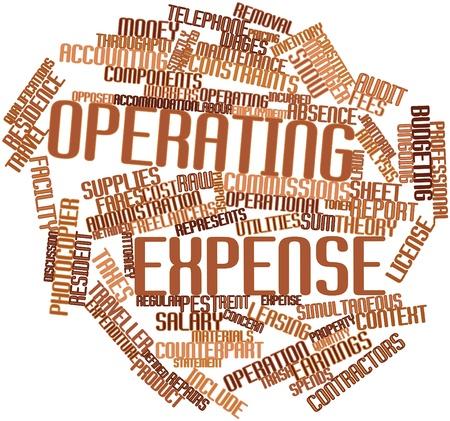 retained: Nube palabra abstracta para gastos de funcionamiento con las etiquetas y términos relacionados