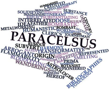 putrefied: Abstract word cloud for Paracelsus with related tags and terms
