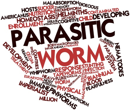 macrophages: Abstract word cloud for Parasitic worm with related tags and terms
