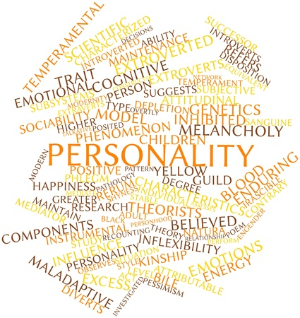Abstract word cloud for Personality with related tags and terms Stock Photo - 16720781