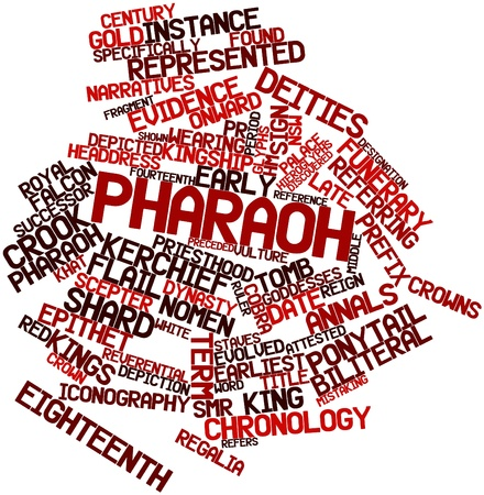 prefix: Abstract word cloud for Pharaoh with related tags and terms Stock Photo