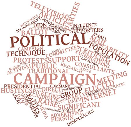 coy: Abstract word cloud for Political campaign with related tags and terms