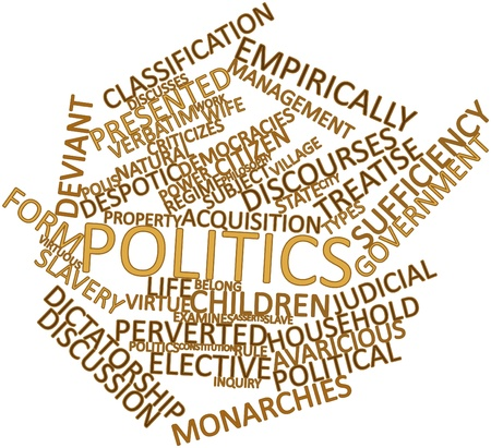 Abstract word cloud for Politics with related tags and terms Stock Photo - 16720727