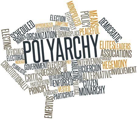 semblance: Word cloud astratto per Poliarchia con tag correlati e termini