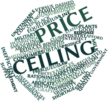 discriminate: Abstract word cloud for Price ceiling with related tags and terms