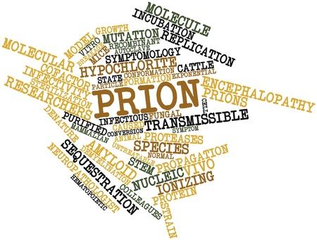 hipótesis: Nube palabra abstracta para Prion con etiquetas y términos relacionados