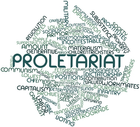 humanism: Abstract word cloud for Proletariat with related tags and terms