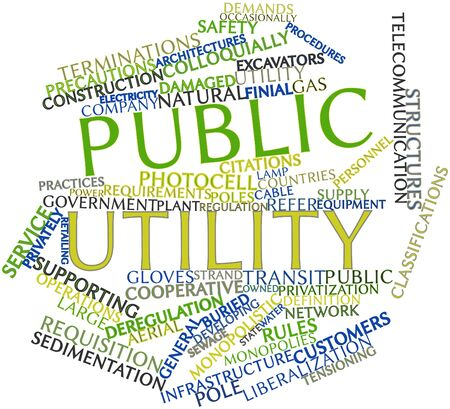 monopolies: Abstract word cloud for Public utility with related tags and terms