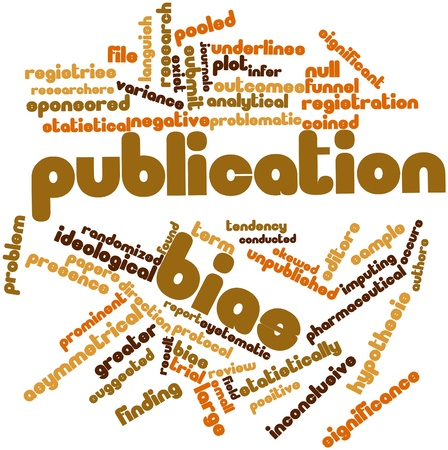 Abstract word cloud for Publication bias with related tags and terms