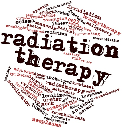 Abstract word cloud for Radiation therapy with related tags and terms Stock Photo - 16720639