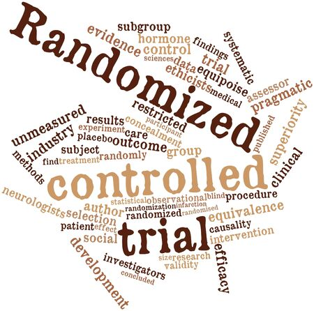 Abstract word cloud for Randomized controlled trial with related tags and terms Stock Photo - 16720017