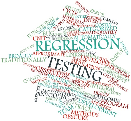 Abstract word cloud for Regression testing with related tags and terms photo