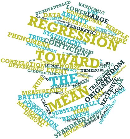 recessive: Abstract word cloud for Regression toward the mean with related tags and terms