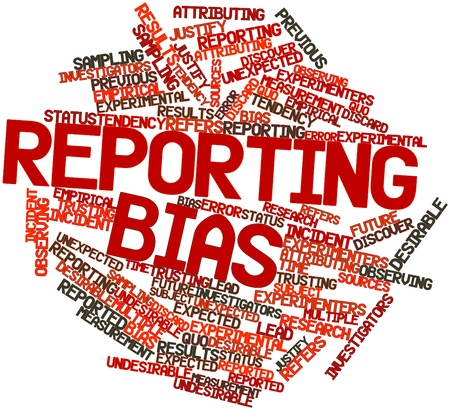 Abstract word cloud for Reporting bias with related tags and terms Stock Photo - 16720912