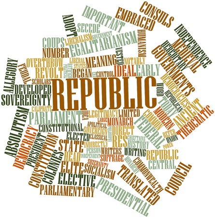 legitimacy: Abstract word cloud for Republic with related tags and terms Stock Photo