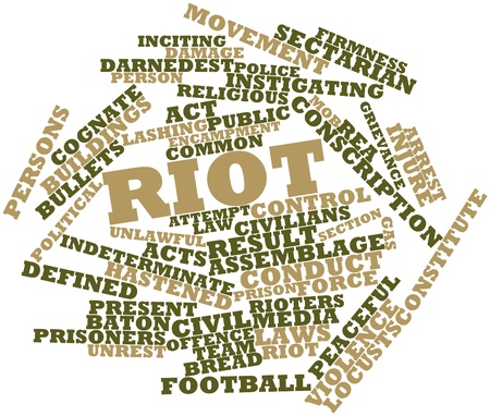 indeterminate: Abstract word cloud for Riot with related tags and terms