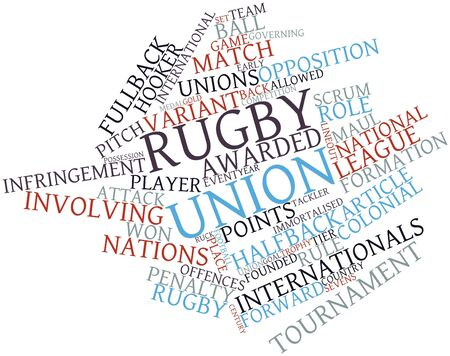 facto: Abstract word cloud for Rugby union with related tags and terms