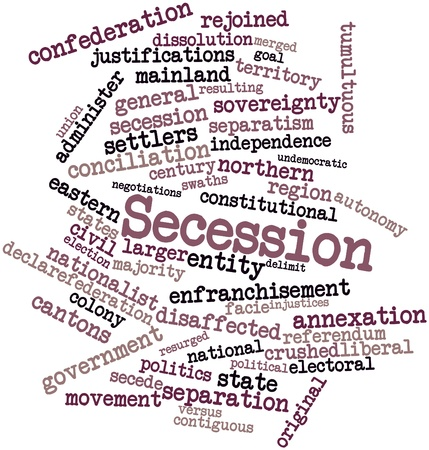 Abstract word cloud for Secession with related tags and terms Stock Photo - 16720326