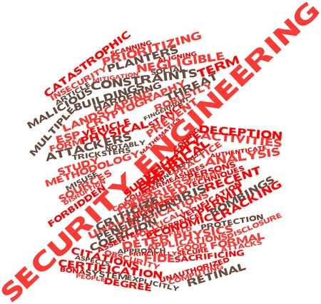 constraints: Abstract word cloud for Security engineering with related tags and terms