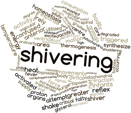 norepinephrine: Abstract word cloud for Shivering with related tags and terms