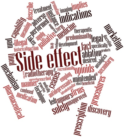 unapproved: Abstract word cloud for Side effect with related tags and terms