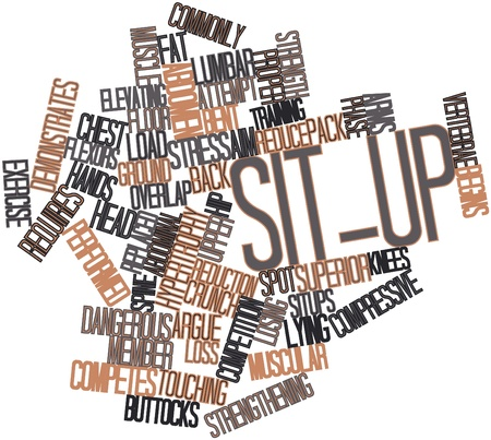 buttocks: Abstract word cloud for Sit-up with related tags and terms