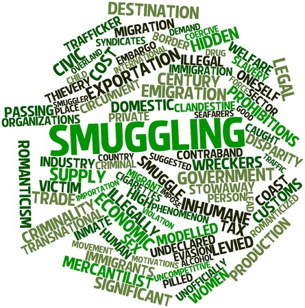 Abstract word cloud for Smuggling with related tags and terms Stock Photo - 16720905