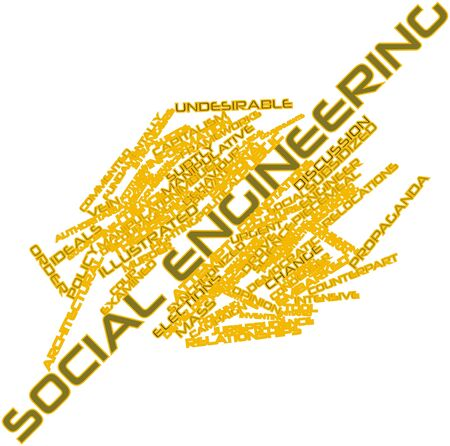 subtly: Abstract word cloud for Social engineering with related tags and terms Stock Photo