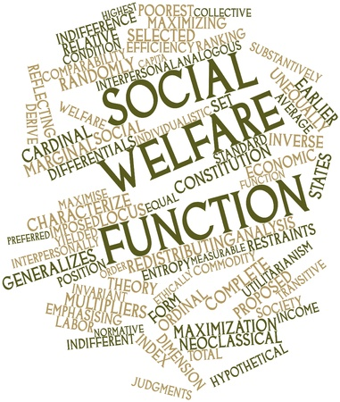 derive: Abstract word cloud for Social welfare function with related tags and terms