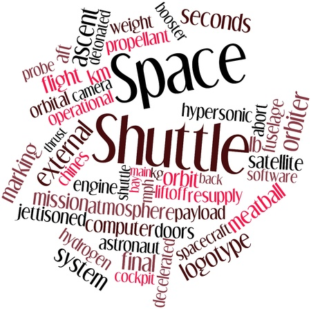 detonated: Abstract word cloud for Space Shuttle with related tags and terms